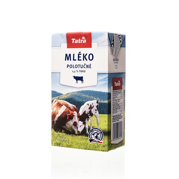 Polotučné mlieko